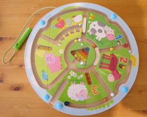 HABA Magnetic game Number Maze